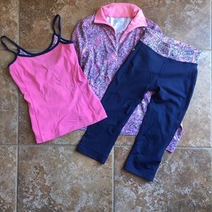Lilly Pulitzer workout outfit. Size XS